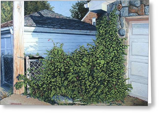 Jeremy Greeting Cards - Green Alley Greeting Card by J S  Ferguson
