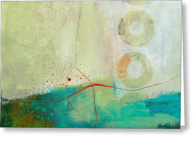 Green And Red 2 Greeting Card by Jane Davies