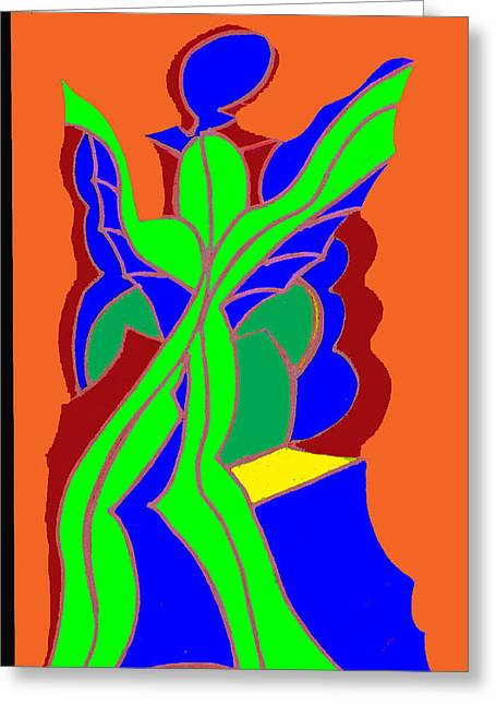 Organe Greeting Cards - Green Angel  Greeting Card by Ken Gidge