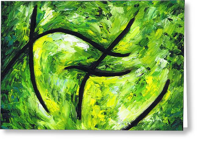 Expression Pastels Greeting Cards - Green Apple Greeting Card by Kamil Swiatek