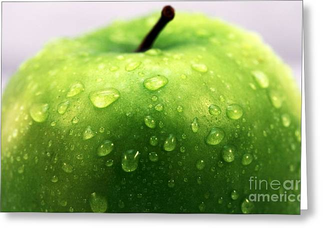 Old Home Place Greeting Cards - Green Apple Top Greeting Card by John Rizzuto