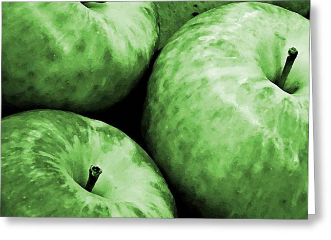 Consume Photographs Greeting Cards - Green Apples Greeting Card by Chris Berry