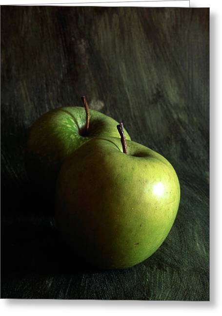 Nutriment Greeting Cards - Green Apples Greeting Card by IB Photo