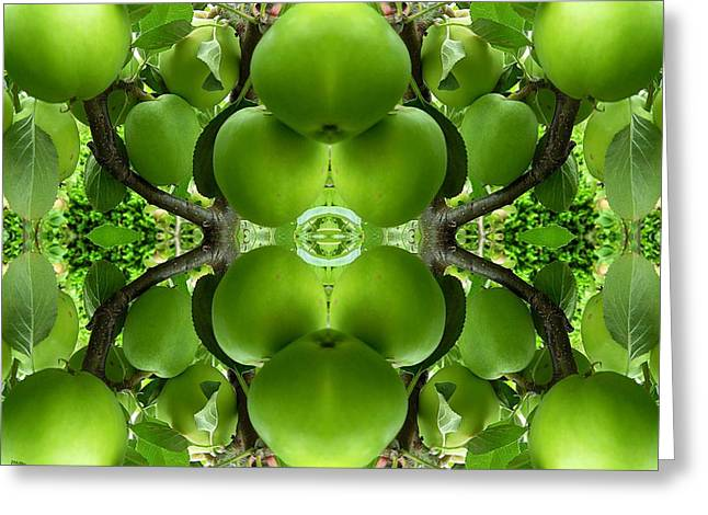 Tablets Greeting Cards - Green Apples Greeting Card by Patrick J Murphy