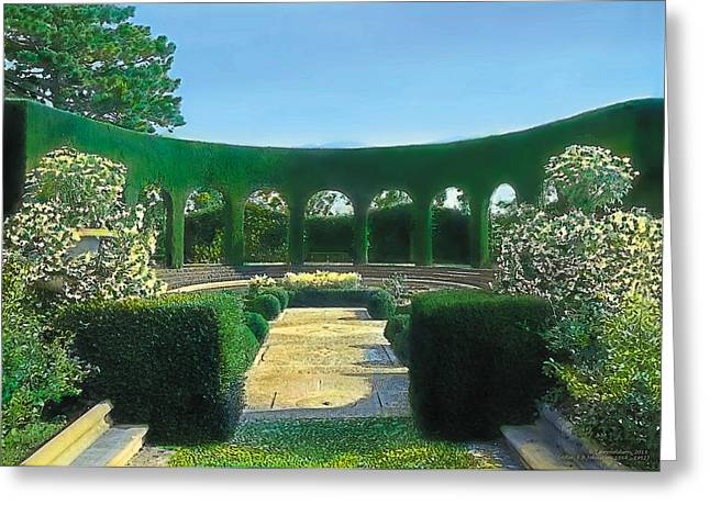 Kinkade Greeting Cards - Green Arches Greeting Card by Terry Reynoldson