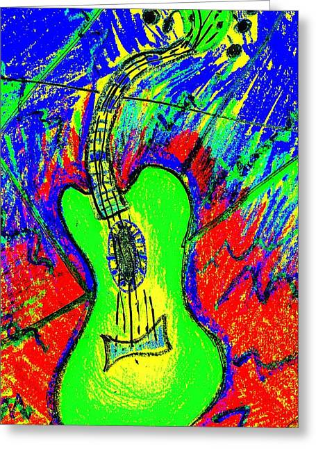 Earthtone Colored Art Greeting Cards - Green Axe Greeting Card by Bill Solley