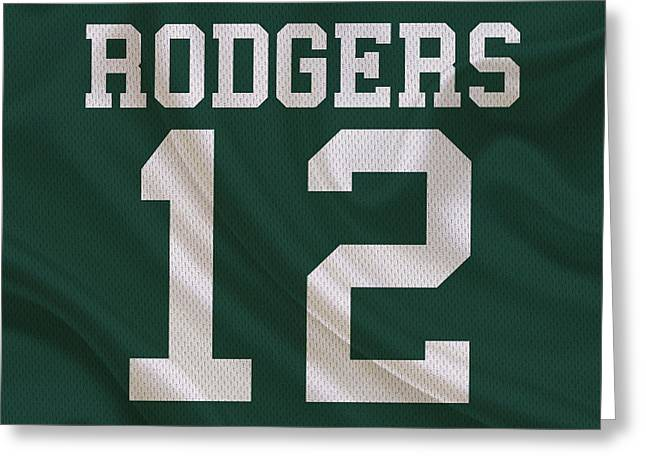 Green Bay Greeting Cards - Green Bay Packers Aaron Rogers Greeting Card by Joe Hamilton