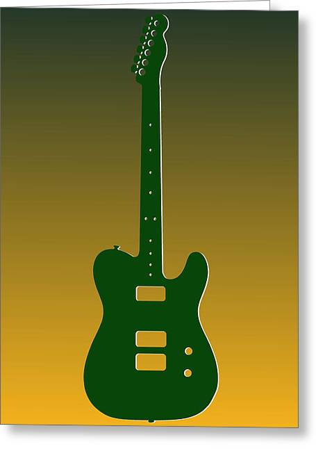 Concert Bands Photographs Greeting Cards - Green Bay Packers Guitar Greeting Card by Joe Hamilton
