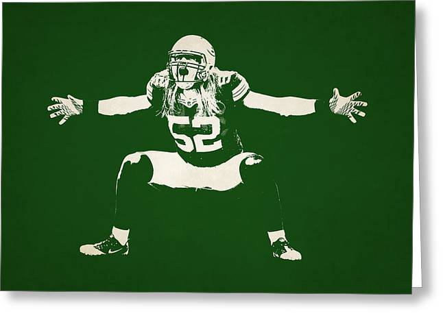 Green Bay Greeting Cards - Green Bay Packers Shadow Player Greeting Card by Joe Hamilton