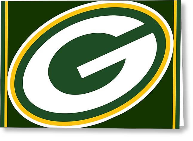 Green Bay Packers Greeting Card by Tony Rubino