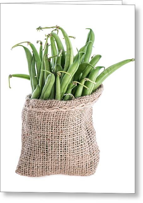 Green Beans Greeting Cards - Green Beans Greeting Card by Handmade Pictures