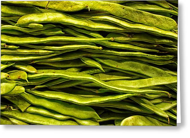 Green Bean Greeting Cards - Green Beans Greeting Card by Mountain Dreams