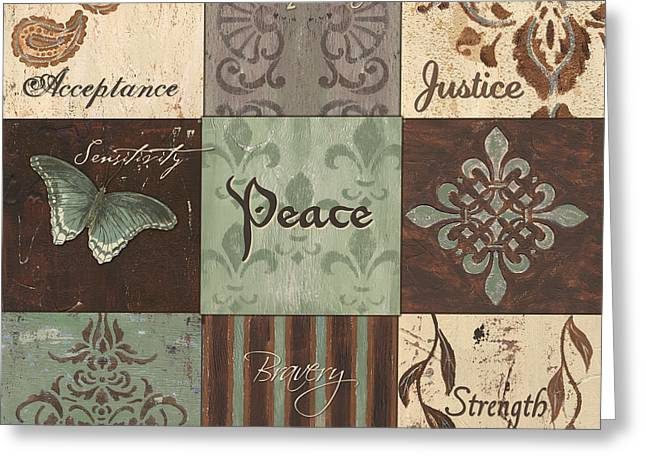 Strength Greeting Cards - Green Brown WTLB 2 Greeting Card by Debbie DeWitt