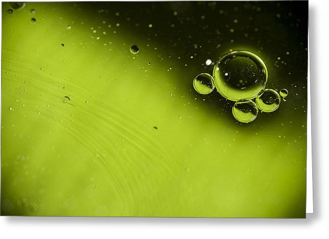 Catching Up Greeting Cards - Green Bubble Greeting Card by Samuel Whitton