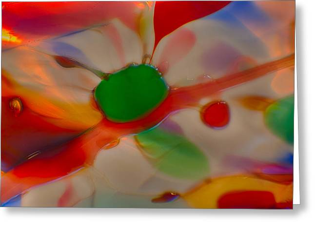 Close Up Glass Art Greeting Cards - Green Butterfly Greeting Card by Omaste Witkowski