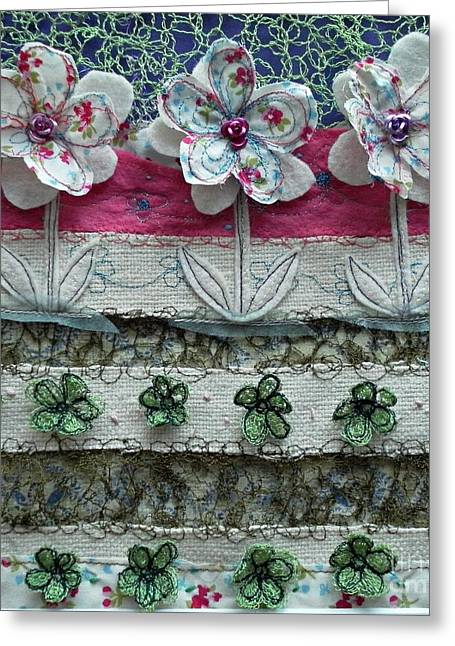 Vegetables Tapestries - Textiles Greeting Cards - Green cabbages Greeting Card by Jenny Mann