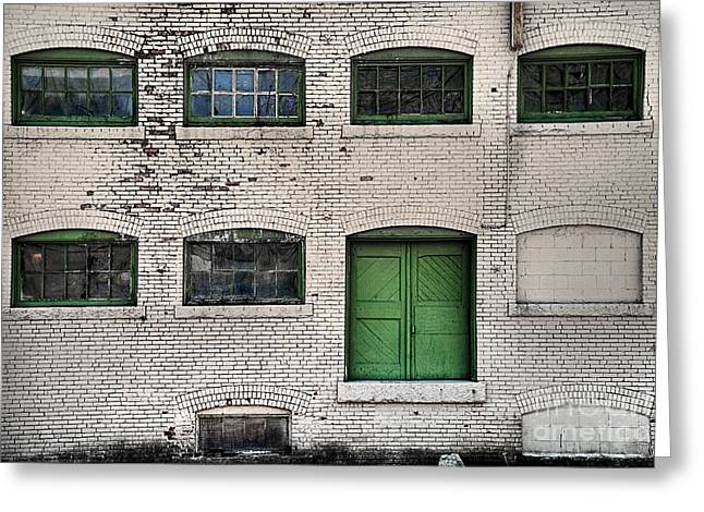 Abandond Greeting Cards - Green Door Greeting Card by Alana Ranney