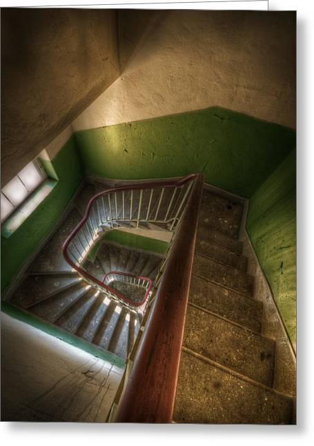 Barrack Digital Greeting Cards - Green down Greeting Card by Nathan Wright