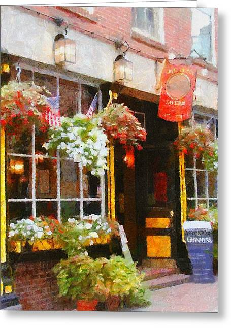 Bars Digital Art Greeting Cards - Green Dragon Tavern Greeting Card by Jeff Kolker