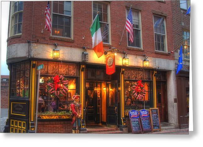 Paul Revere Greeting Cards - Green Dragon Tavern Greeting Card by Joann Vitali