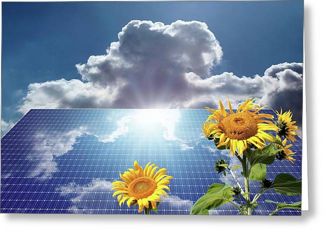 Green Energy Greeting Card by Detlev Van Ravenswaay