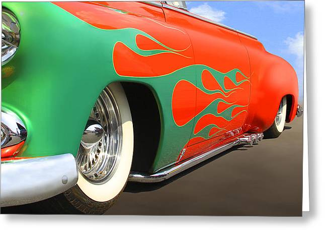 Green Flames Greeting Card by Mike McGlothlen