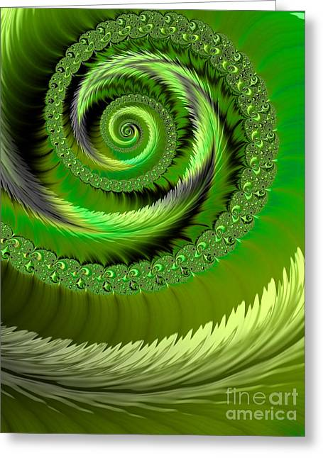 Emerald Greeting Cards - Green Fronds Greeting Card by John Edwards