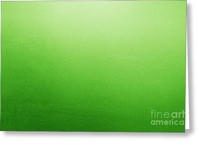 Frosted Glass Greeting Cards - Green frosted glass background Greeting Card by Michal Bednarek