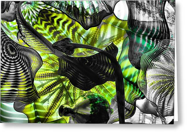Glass Work Greeting Cards - Green Glass Greeting Card by Dan Sproul