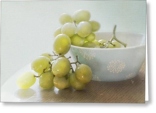 Green Grapes Greeting Card by Cindy Garber Iverson