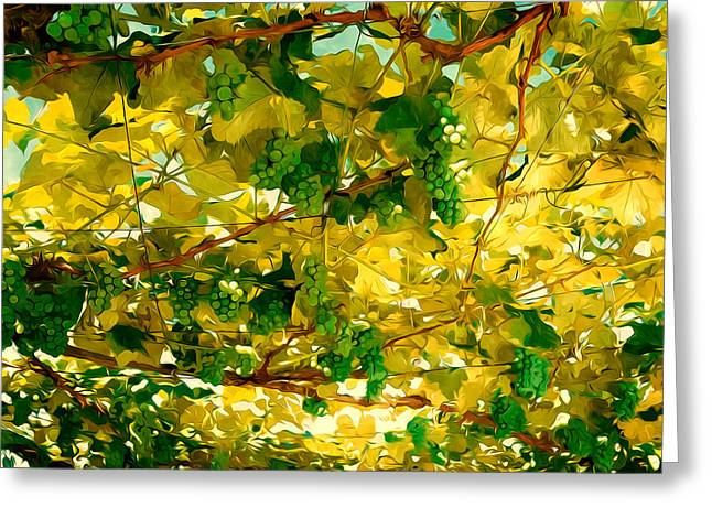 Lebensmittel Greeting Cards - Green grapes Greeting Card by Lanjee Chee