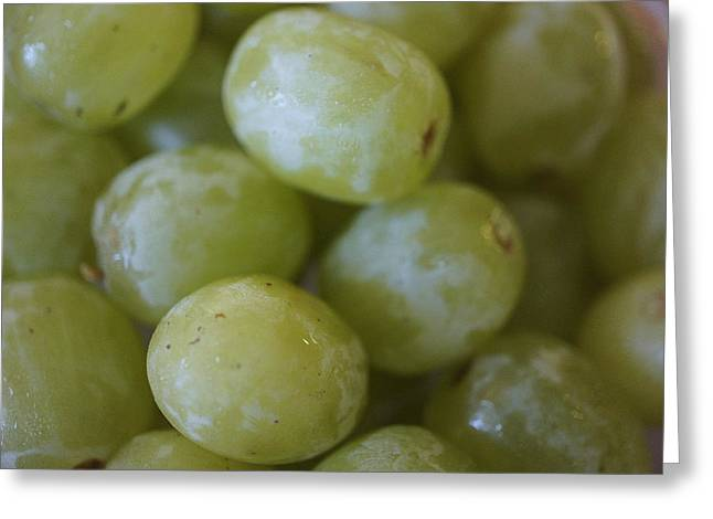 Bunch Of Grapes Greeting Cards - Green Grapes Greeting Card by Laurie Perry
