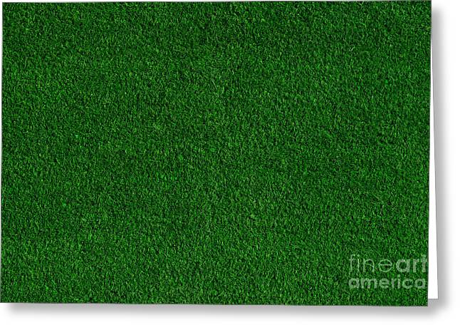 Grass Courts Greeting Cards - Green grass field background Greeting Card by Michal Bednarek
