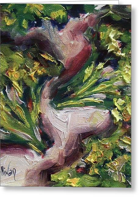 Broccoli Greeting Cards - Green Heads by Alabama Artist Angela Sullivan Greeting Card by Angela Sullivan