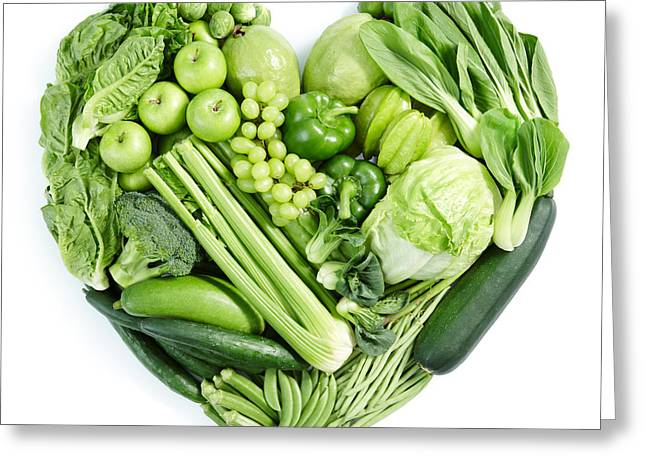 Recently Sold -  - Broccoli Greeting Cards - Green Healthy Food Greeting Card by Kk Ong