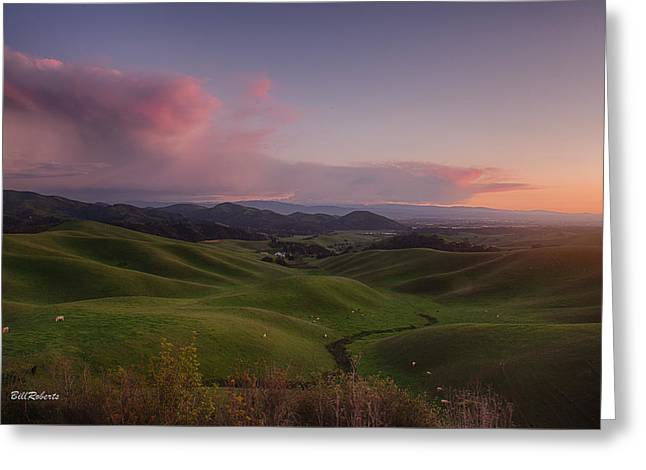 Monterey Greeting Cards - Green Hills of Monterey County Greeting Card by Bill Roberts