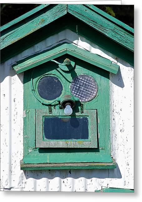Tauchen Greeting Cards - Green house Greeting Card by Erlendur Gudmundsson