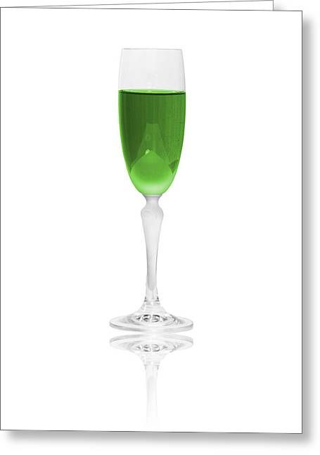 Green Glass Greeting Cards - Green is the color Greeting Card by Erik Brede