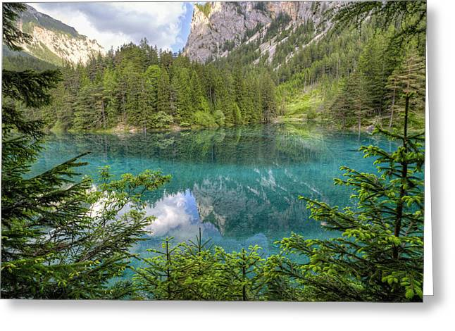 Styria Greeting Cards - The Green Lake Greeting Card by Alex Galiano