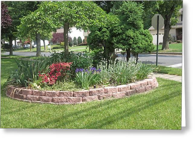 Wife Greeting Cards - Green Landscape 1 Parks in Neighbourhood        CherryHILL NJ USA America   Greeting Card by Navin Joshi