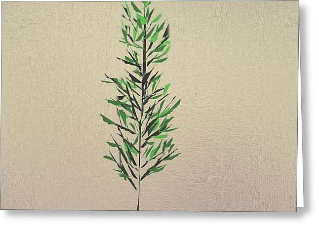 Green Leaves Greeting Card by John Krakora