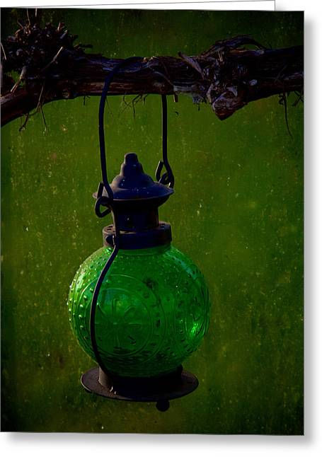 Green Lantern Photographs Greeting Cards - Green Light Greeting Card by Odd Jeppesen