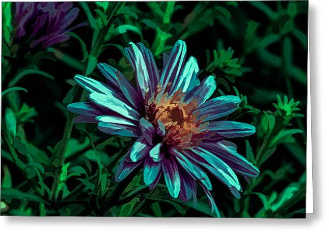 Green Day Greeting Cards - Green Lilac Aster 2 Greeting Card by Leif Sohlman