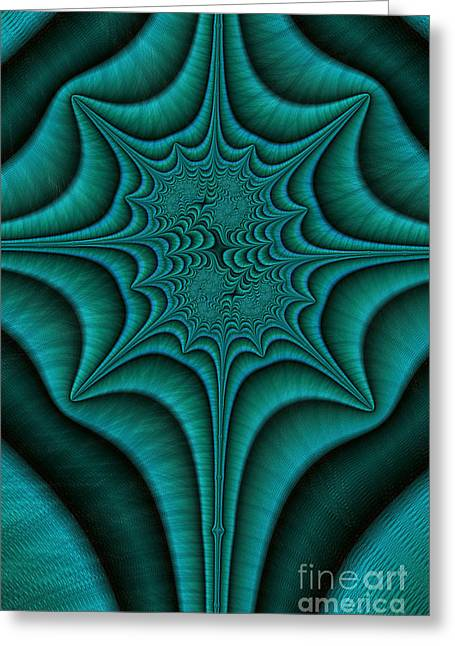 Green Power Greeting Cards - Green Malachite Abstract Greeting Card by John Edwards