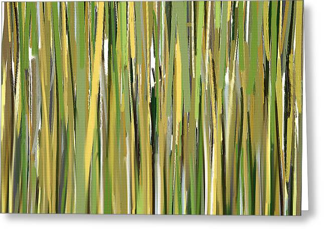Green Artworks Greeting Cards - Green Melodies Greeting Card by Lourry Legarde