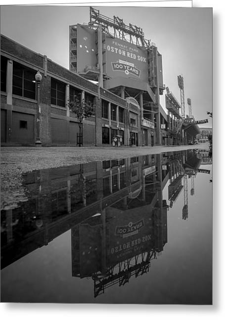 Fenway Park Greeting Cards - Green Monster Greeting Card by Paul Treseler