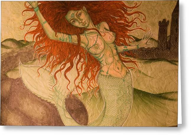 Green Moss Kingdom Greeting Card by Baruska A Michalcikova