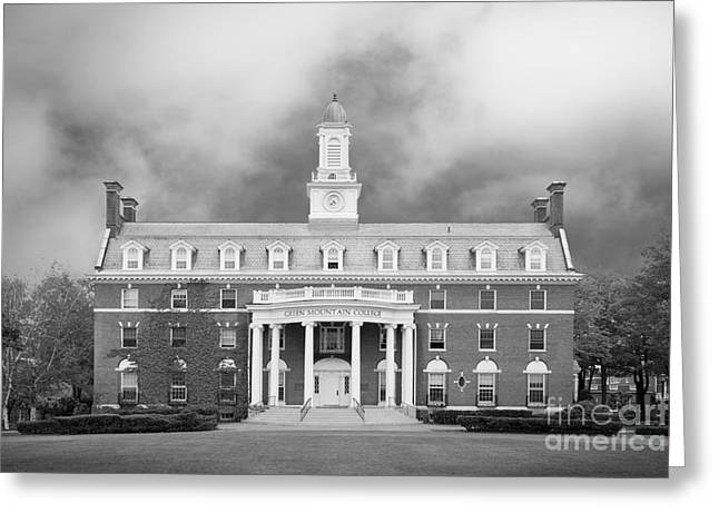 Occasion Greeting Cards - Green Mountain College Ames Hall Greeting Card by University Icons