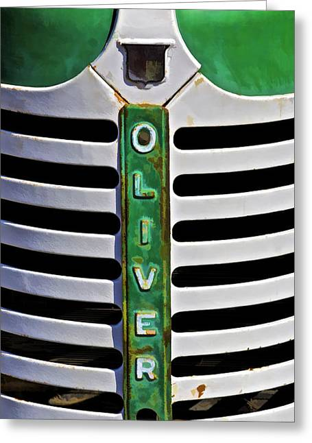 David Letts Greeting Cards - Green Oliver Farm Tractor Greeting Card by David Letts