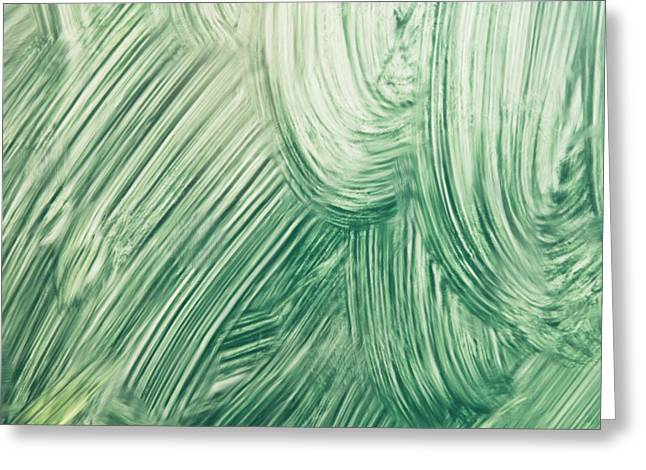 Bristles Greeting Cards - Green paint Greeting Card by Tom Gowanlock